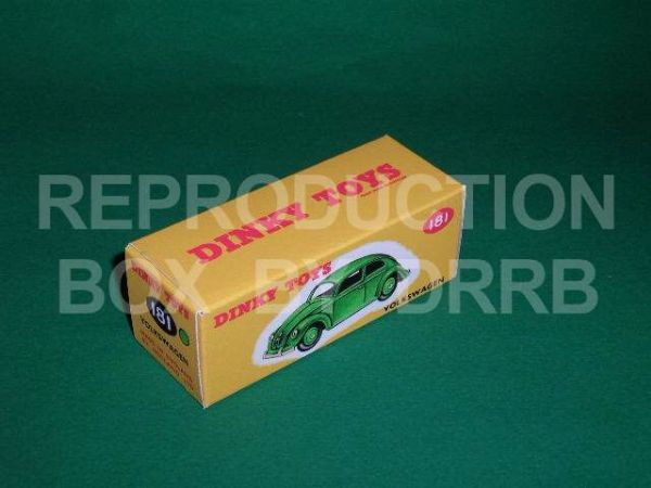 Dinky #181 Volkswagen - Reproduction Box ( Green )